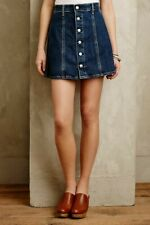Alexa Chung x AG 'The Kety' A-Line Denim Button Front Skirt Womens Size 25 / XS