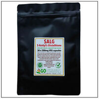 BEST SELLING S-Acetyl L-Glutathione 200mg VEG Capsules - LIVER, IMMUNITY, AGEING