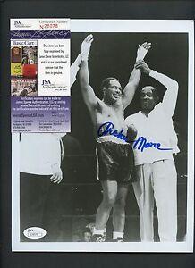 Archie Moore Boxer Signed 8x10 Photo JSA COA AUTO Autograph