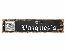SPFN0328 The VAZQUEZ'S Family Name Street Chic Sign Home Decor Gift Ideas