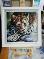 Framed Canvas Print From Original Painting By Artist Lana Arkhi RMS The Leopard
