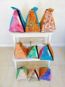 Bulk 5 Handmade recycled batik patchwork door stop stopper door jam home decor