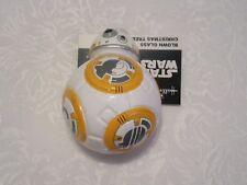 Disney Star Wars Last Jedi Hallmark Christmas Xmas Ornament Blown Glass BB-8 BB8