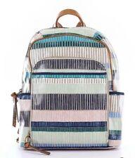 Fossil KeyPer Backpack Canvas Multi Strip Blue Green Black Tan  $158