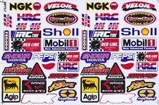 "D382 Sponsor Sponsors Racing Tuning Sticker Decal 1 Sheet 10,5""x7"" / 27x18 cm"