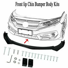 Universal Front Bumper Lip Body Kit Spoiler Wing For Honda Civi Bmw Audi Benz Fits Cayenne