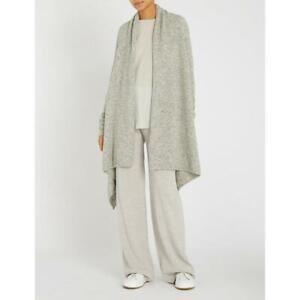 MAX MARA, Alpaca & Wool Blend Cardigan in Gray, Size S/M
