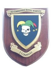 42 Commando Royal Marines J Company Military Shield Wall Plaque