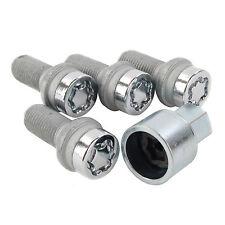 SU Standard Locking Wheel Bolts Set 4 Pieces Key M14x1.5 26.7mm - McGard 28018SU