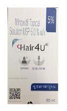 5 x HAIR4U 5%  MINOXIDIL - HAIR LOSS REGROWTH Regain SOLUTION 60ML