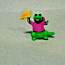 "1988 Hallmark Merry Miniatures Green Alligator With ""Hooray"" Flag"