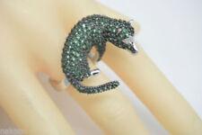 Anillos de joyería con gemas verde esmeralda