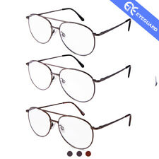 EYEGUARD Reading Glasses Stylish Classic Readers Metal Deluxe Men magnifier 3 Pc