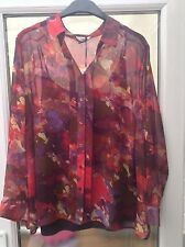 Marks and Spencer Floral Collared Long Sleeve Women's Tops & Shirts