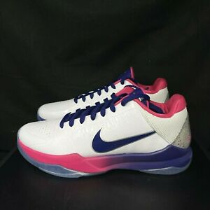 Nike Kobe V 5 Protro Kay Yow PROMO White Pink Blue CW2210-100 DS Size 8