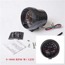 95mm/3.75in Car Tachometer Tacho Gauge Meter 0-8000 RPM W/ LED Shift Light 12V