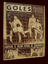 SOCCER SOUTHAMERICAN CUP 1959 ARGENTINA CHAMPION - ORIGINAL Goles magazine