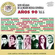 7 DECADAS DE LA MEJOR MUSICA ESPAÑOLA-VOL.6  AÑOS 90-2CD