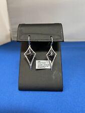 Gabriel & Co. Sterling Silver & Black Spinel .145ctw Dangle Earrings.