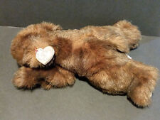 "1996 TY CLASSIC PLUSH 12"" Baby Paws Laying Out Brown Bear"