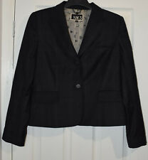 NW3 N.W.3 Fashion Check Wool Suit Jacket Buttons Up Down Front Blazer Size UK 14