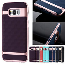 New Soft Rubber Hybrid Shockproof Hard PC Back Case Cover For Samsung S8 Plus S7