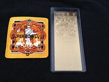 Miami Dolphins Super Bowl VIII 22kt Gold Replica Ticket and Patch Set (NEW)