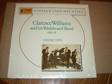 CLARENCE WILLIAMS AND HIS WASHBOARD BAND 1933-1935 V2 LP SWAGGIE JAZZ NEW VINYL
