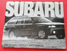 1996 SUBARU MODELS MEDIA RELEASE PRODUCT INFORMATION PACKAGE