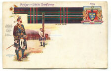 Clan Ferguson - scotland, kilt, tossing the caber - early postcard