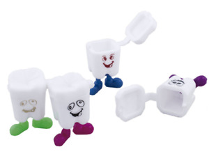 20 Baby first tooth holder molar box plastic colorful fun for kids fast shipping