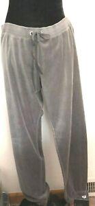 Plush and Lush Velour Gray Sweatpants Joggers Size Large Victoria's Secret