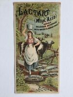 Antique 1884 Avery Lactart Trade Card, Cobb, Bates, Yerxa's, Boston MA Cow Maid