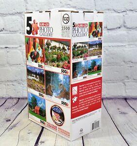 Sure-Lox Photo Gallery 5 Jigsaw Puzzle 500 Pieces each Set 2500 Total Pieces
