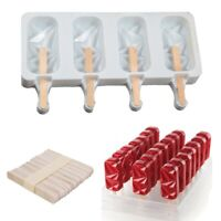Silicone Ice Cream Molds Ice Cube  Tray Popsicle Maker DIY Homemade Ice Lolly