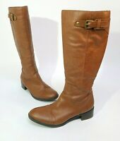 Franco Sarto Women's Brown Tall Knee High Boots Size 9.5 Leather Medium Jumper