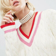 Europe Choker Necklaces Multilayer Pearl White Color Necklaces For Women Jewelry