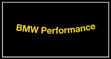 5x BMW Performance Felgenaufkleber Schriftzug gelb 86 x 7mm