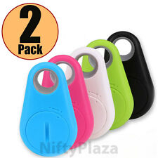 2 Pack Smart Finder Bluetooth Tracer Pet Child GPS Locator Tag Alarm Key Tracker