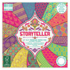 LOT 16 FEUILLE CARDSTOCK STORYTELLER PAPIER MULTICOLORE INDOU INDIEN SARI SCRAP