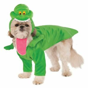 Ghostbusters Slimer Green Ghost Dog Costume Pet Dress Up Clothes SM MD LG XL