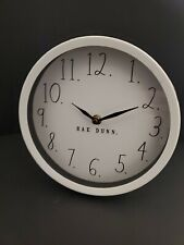 "Rae Dunn White Round Clock 8"" table counter"