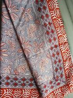 Anokhi Floral Design Sarong Beach Wear Hand Block Pario Cotton Cover up/Scarf HP