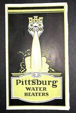 Art Deco Pittsburgh Water Heaters Advertising Brochure Flyer  C 1930 Plumbing