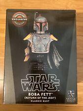 Gentle Giant Star Wars Boba Fett Return Of The Jedi Bust. GameStop Exclusive NEW