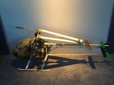 VINTAGE UK made MFA SPORT 500 R/C 40 size NITRO HELI HELICOPTER With 45 ENGINE