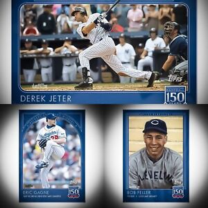 🛑👀 Topps 150 Years Of Baseball #55-#57 Gagne, Jeter, & Feller. 🔥