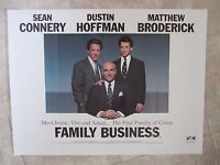 FAMILY BUSINESS movie poster SEAN CONNERY, MATTHEW BRODERICK
