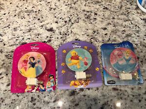 Lot Of 3 Winnie The Pooh, Cinderella And Princess Kids Night Light Lamp