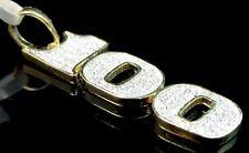 Bill Charm Pendant Genuine .30ctw Diamonds New 10k Yellow Gold Finish 100 $